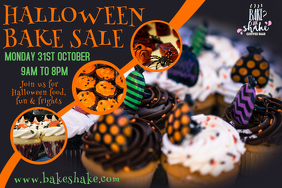 Halloween Bake Sale Video Template Poster