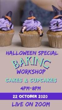 Halloween Baking workshop Instagram Story template