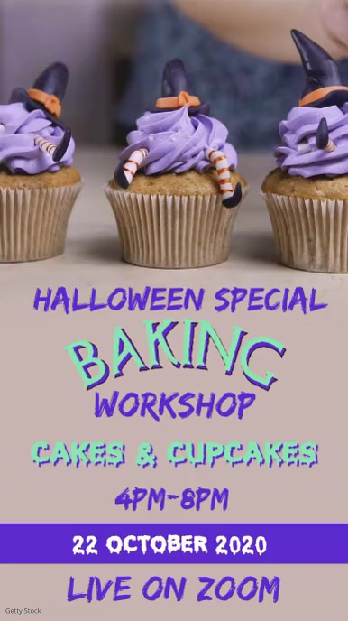 Halloween Baking workshop Instagram Story template