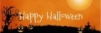 Halloween Banner Spanduk 2' × 6' template