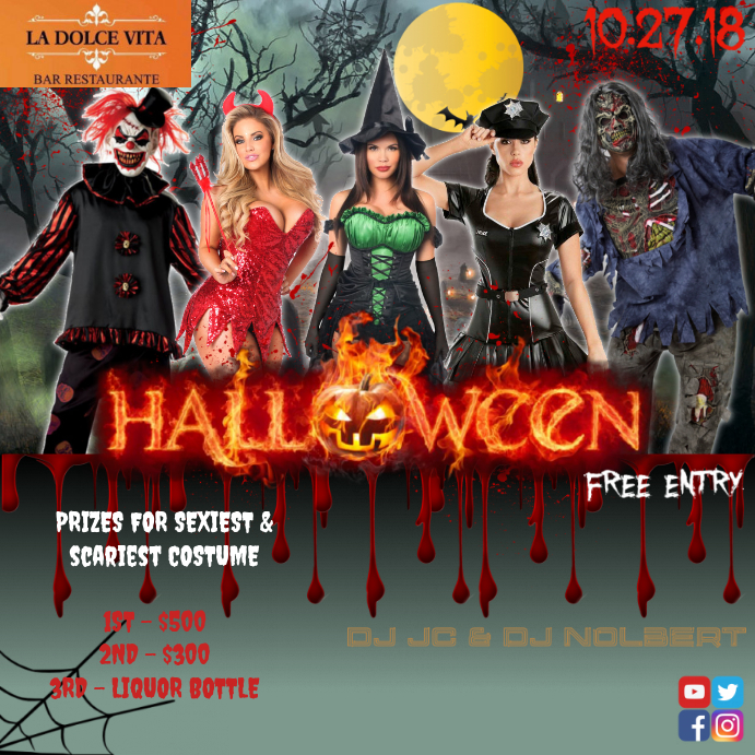 halloween club bar flyer template postermywall