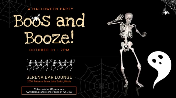 Halloween Bar Event Digital Display Ad Template