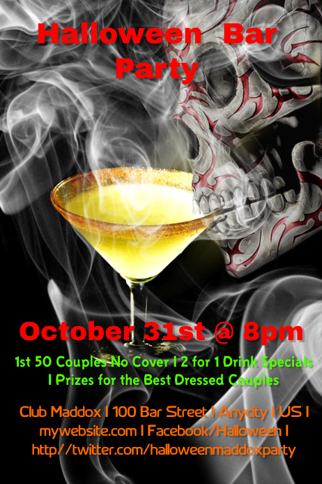 halloween bar party template postermywall