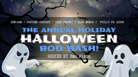 Halloween Bash Event Digital Signage Video Template Digitale Vertoning (16:9)