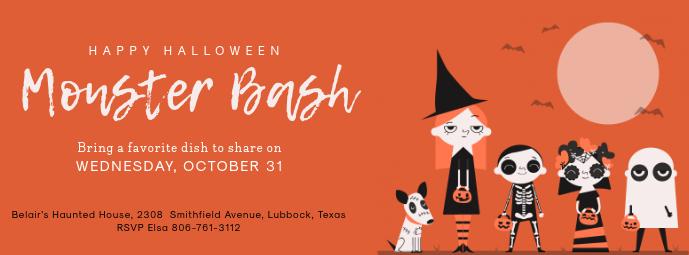 Halloween Bash Facebook Cover Photo