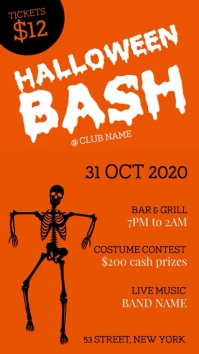 Halloween bash party Instagram Story template