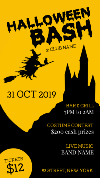 Halloween bash party