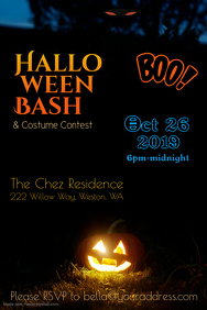 Halloween Bash Poster Template