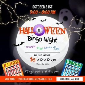 Halloween Bingo Night Instagram Video
