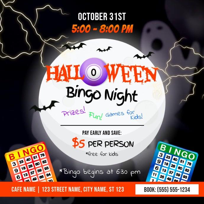 Halloween Bingo Night Instagram Video