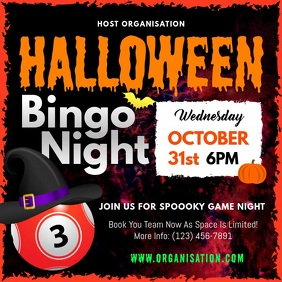 Halloween Bingo Night Square Video