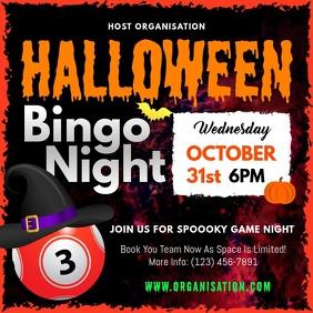 Halloween Bingo Night Square Video template