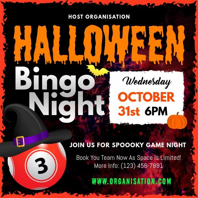 Halloween Bingo Night Square Video