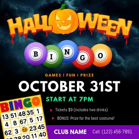 Halloween Bingo Square Video template