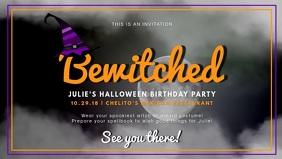 Halloween Birthday Facebook Cover Video