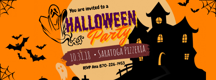 Halloween Birthday Party Invitation Facebook Cover Template