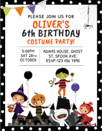 Halloween Birthday Flyer Template