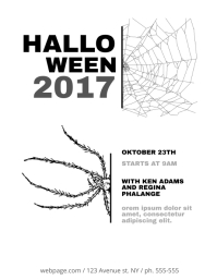 Halloween Flyer Template black and white