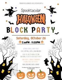 Halloween Block Party Festival Harvest Invite Løbeseddel (US Letter) template