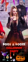 halloween boos and booze filter Snapchat Geofilter template