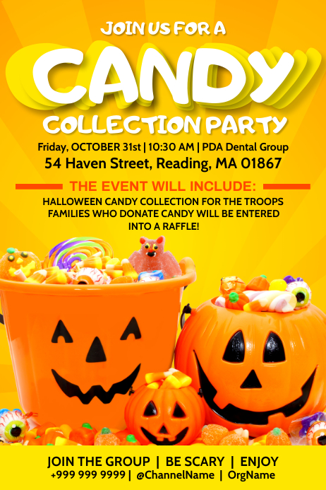 Halloween Candy Collection Party Template Poster