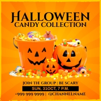 Halloween Candy Collection Post Template