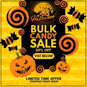 Halloween Candy Sale Promo Template Pos Instagram