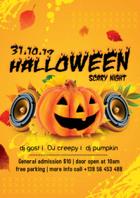 Halloween Carnival Promotion Flyer Design