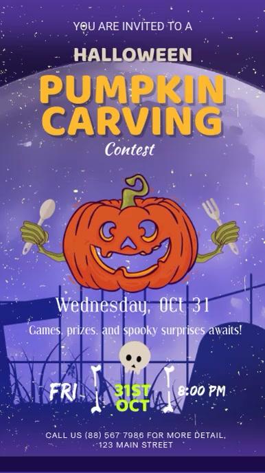 Halloween Carving Contest Digital Signage