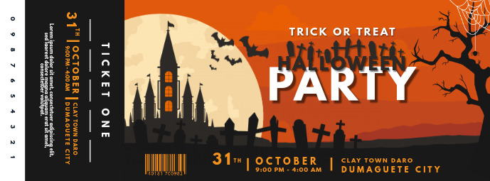 Halloween Castle Party Ticket Printable