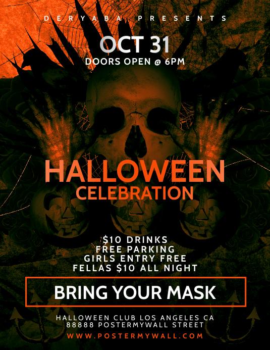 Halloween Celebration Flyer/Laber