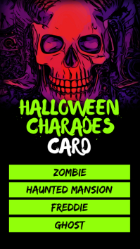 Halloween charades night Instagram Story template