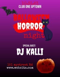 Halloween Club Event Flyer (format US Letter) template
