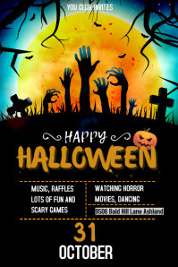 Halloween Club Event Posters template