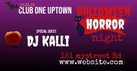 Halloween Club Event Social post Isithombe Esabiwe ku-Facebook template