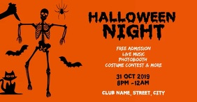 Halloween club night party Facebook begivenhed cover template