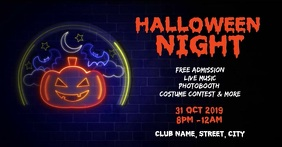 Halloween club night party Facebook Event Cover template