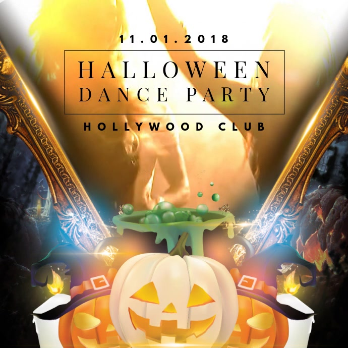 Halloween Club Party Video Invitation Template