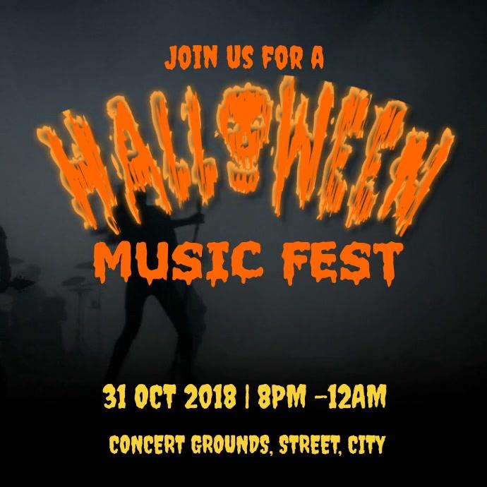Halloween concert สี่เหลี่ยมจัตุรัส (1:1) template