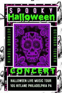 Halloween Concert Flyer Poster template