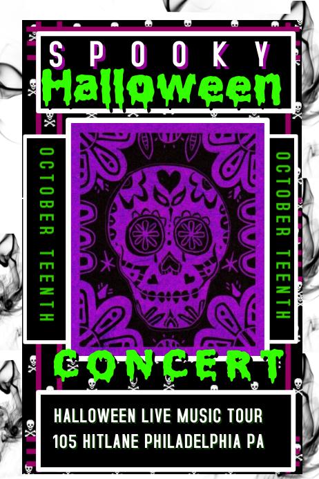 Halloween Concert Flyer โปสเตอร์ template