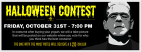 Halloween Contest Black Facebook Cover Photo
