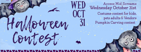 Halloween Contest Facebook Cover Photo template