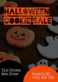 Halloween Cookie Sale A4 template