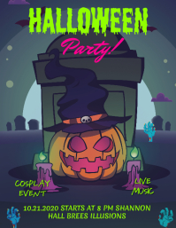 Halloween Cosplay Event Poster Design