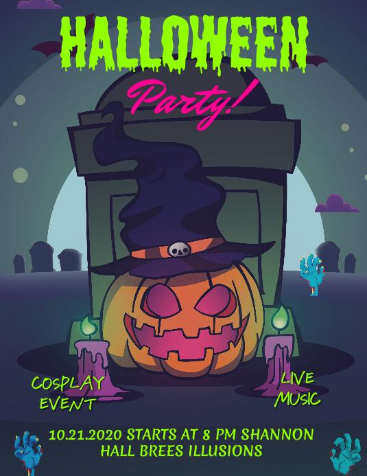 Halloween Cosplay Event Poster Design