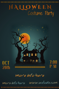 Halloween Costume Party Poster