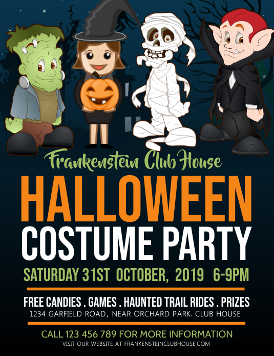 halloween costume party, kids party