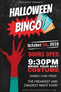 Halloween Costume Party and Bingo Invitation Poster