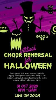 Halloween choir rehersal Historia de Instagram template